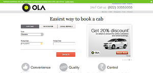 Olacabs Flat Fare of Rs 399 for Airport Pickup from Bangalore Airport