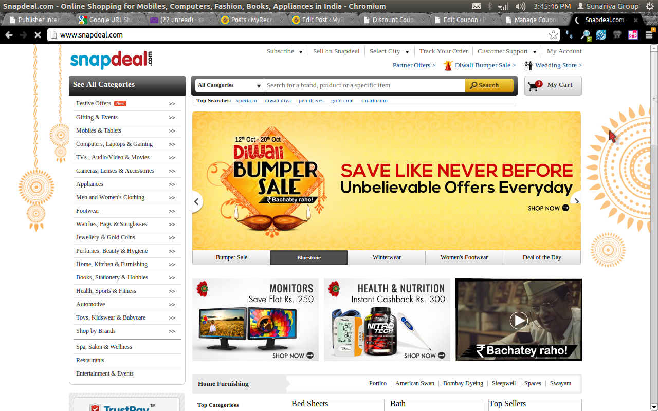 Snapdeal Washing Machines 30% Discount Coupon Code July 2014