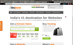 Bigrock .in Domain Name Rs. 99 Coupon Code April 2014