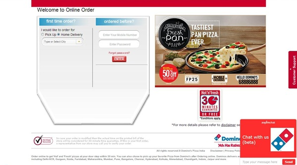 Dominos online coupon code