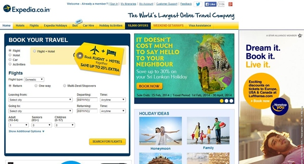 Expedia 25% Off Hotel Booking Coupon Code April 2014
